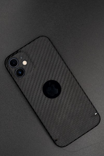 Carbon Cover iPhone 12 Pro Max with Logowindow