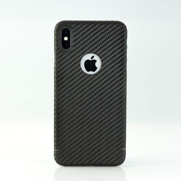 Carbon Cover iPhone Xs Max with Logo-Window