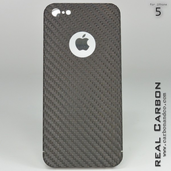Carbon Cover iPhone 5 with Logo Window