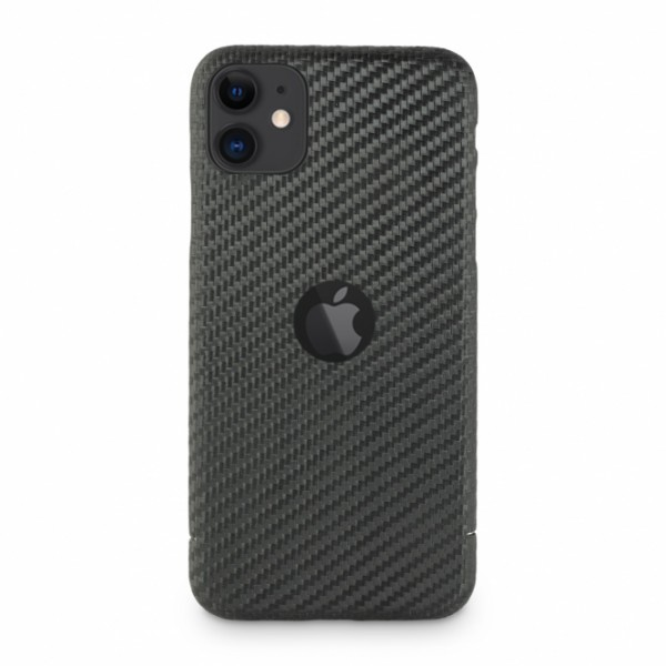 Carbon Cover iPhone 11 with Logo Window