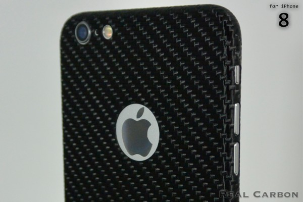 Carbon Cover iPhone 8 with Logo Window