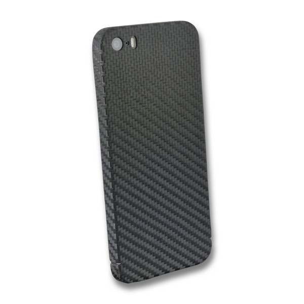 Carbon Cover iPhone SE 2016 with Logo Window